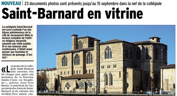 Le Dauphiné Libéré, 11 juin 2017 : Saint-Barnard en vitrine