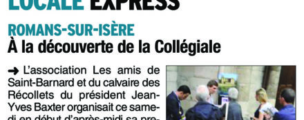 Le Dauphiné Libéré, 6 juillet 2017 : A la découverte de la collégiale