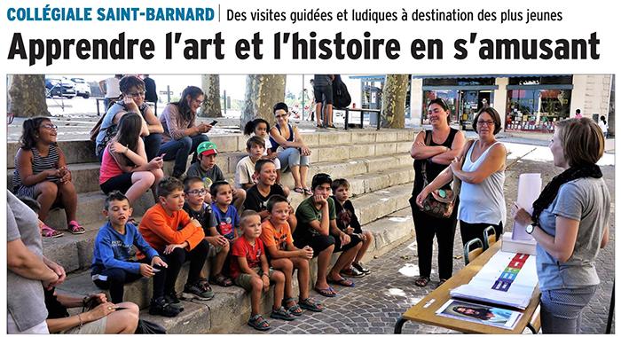 Le Dauphiné Libéré, 15 août 2017 : Apprendre l'art et l'histoire en s'amusant