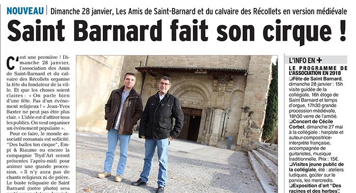 Le Dauphiné Libéré, 26 décembre 2017 : Saint Barnard fait son cirque !