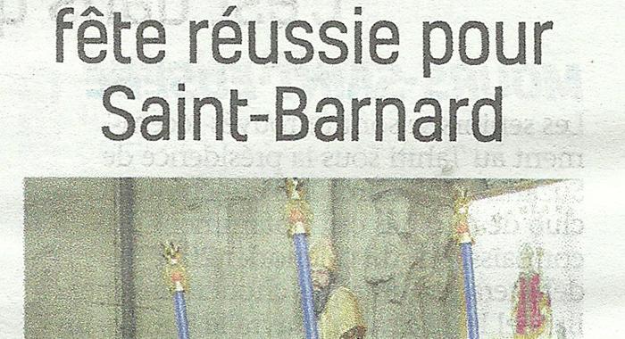 Drôme Hebdo, 10 février 2018 : Une première fête réussie pour saint Banard