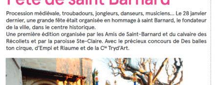 Romans Mag, 20 février 2018 : Fête de saint Barnard
