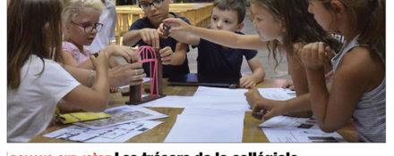 Le Dauphiné Libéré, 16 août 2018 : Les trésors de la collégiale Saint-Barnard se dévoilent aux enfants